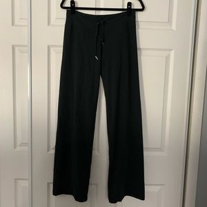 Woman's black under Armour sweatpants